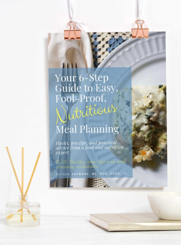 Love the idea of meal planning, but don't know where to start? Get this super practical nutritious meal Planning Guide from Alyssa of Passionate Portions